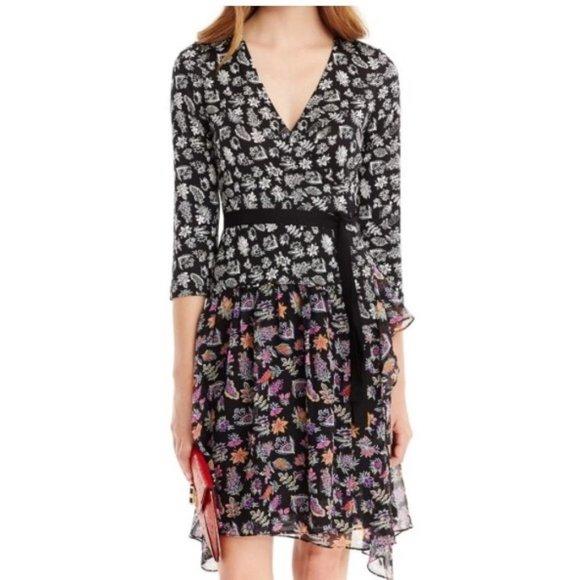 New* DVF RIVIERA WRAP DRESS Size 2
